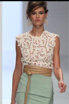 falda tubo larga blusa de encaje - Buscar con Google