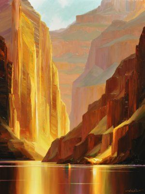 """Canyon Serenity"" Concept Art by Charles Pabst"