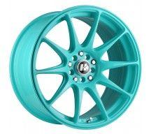 HUSSLA HXR27 17X8.25 5X114.3 TIFFANY BLUE WHEEL & TYRE PACKAGE