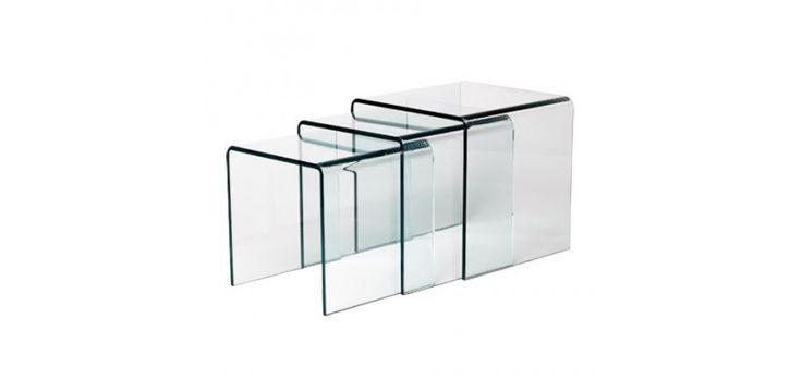 Table Gigogne En Verre Design 12MM - Meuble SoDezign