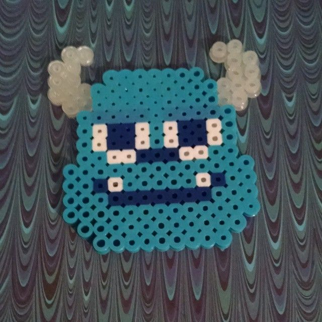 Sulley Monsters Inc. perler beads by doucetcreations