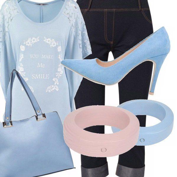 Se ti piace l'azzurro, Pantone Official lo ha decretato colore di questa primavera/estate 2016. Ho creato per te un look in low, quindi con poca spesa, un abbigliamento carino. Adatto anche a chi belle forme ;)