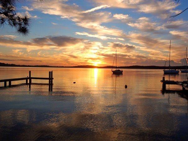 lake macquarie, oz.  how serene.