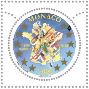 EURO 2016 Stamps Monaco