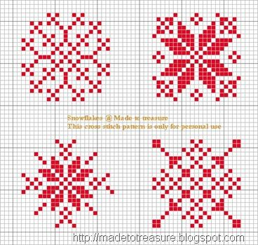 Cross Stitch Snowflakes