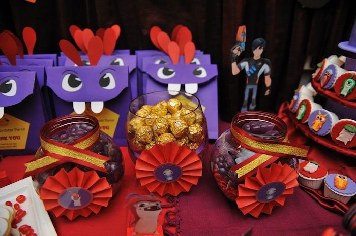 Slugterra Themed 7th Birthday Party with Lots of Awesome Ideas via Kara's Party Ideas | KarasPartyIdeas.com #SlugParty #BoyParty #PartyIdeas (10)