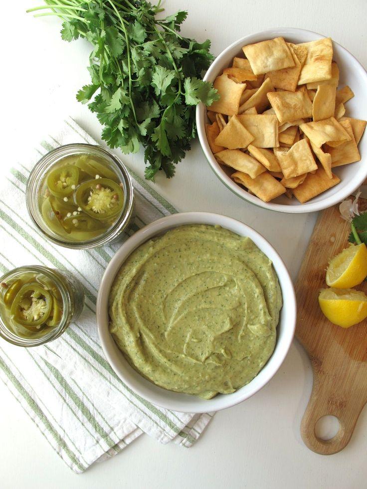 Quick-Pickled Jalapeños and Cilantro Jalapeño Hummus