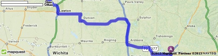 Driving Directions from Durant, Oklahoma to Meers Store & Restaurant in Lawton, Oklahoma 73507   MapQuest