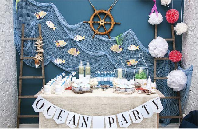 Маленькому путешественнику понравится морская тема для оформления комнаты на день рождения