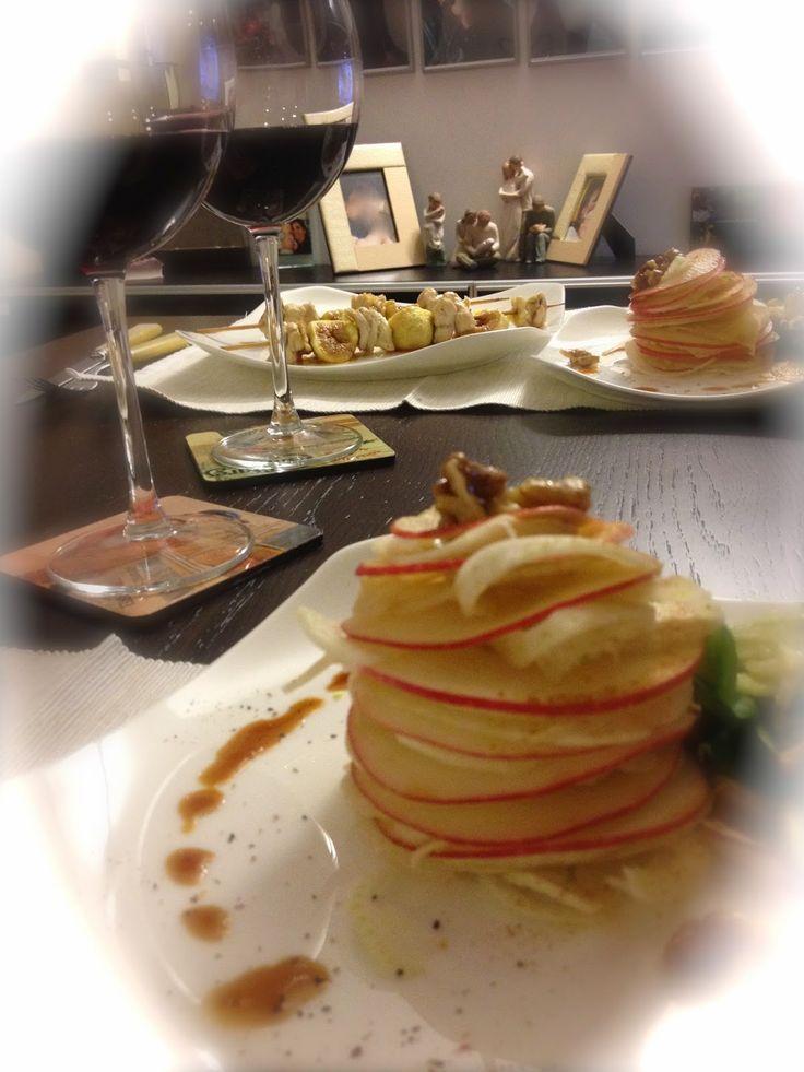 mele, finocchio, noci caramellate, paprika e zenzero la ricetta di questa sfiziosa insalata su www.impastastorie.com