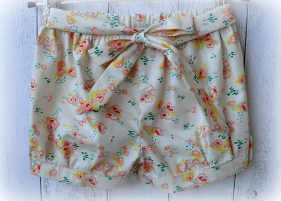 Girls+Cotton+floral+shorts+by+LittleMacsClothing+on+Etsy,+$25.00