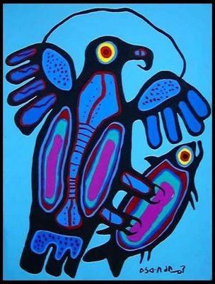 NORVAL MORRISSEAU BLOG: Birds of Norval Morrisseau (Part IX)
