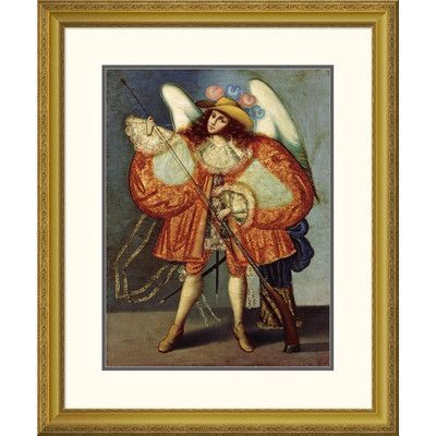 """Global Gallery 'Arcangel Con Arcabuz' Framed Painting Print Size: 40"""" H x 32.63"""" W x 1.5"""" D"""