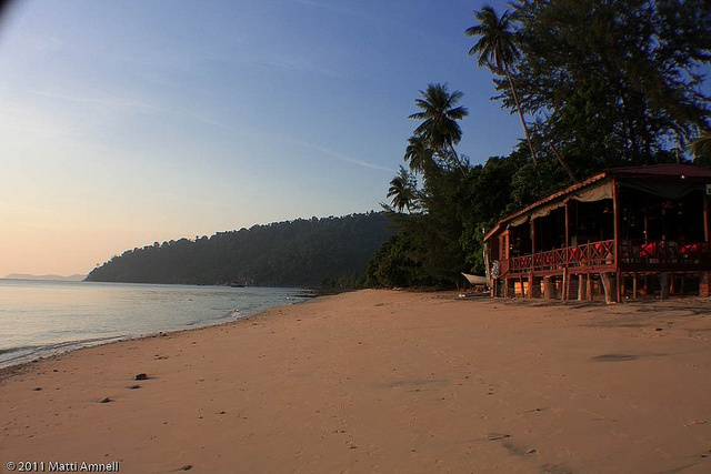 Tioman island, Malaysia Spent 3 weeks here waiting out the monsoons. Played lots of cards and drank kopi susu (coffee with sweetened condensed milk)