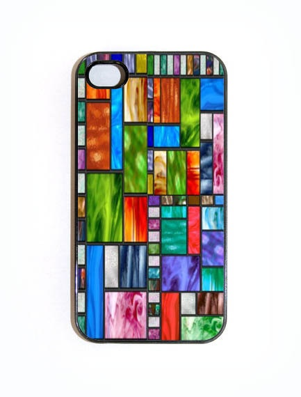 iPhone 4 4s Case Stained Glass Hard iPhone Case by KustomCases, $15.00