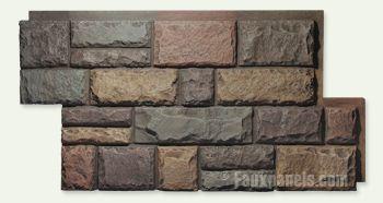 Maybe a textured accent wall? (Coastal themed master bedroom) Regency Random Rock Earth Panel