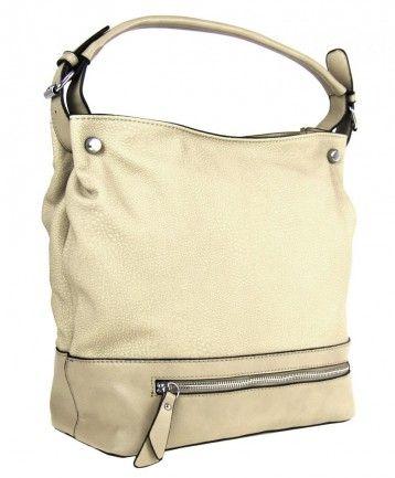 Velká kabelka na rameno TH2032 žlutobéžová - Kliknutím zobrazíte detail obrázku.