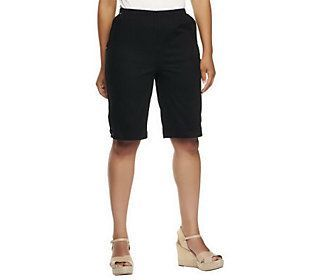 Denim & Co. Classic Waist Side Lace-Up Bermuda Shorts with Pockets