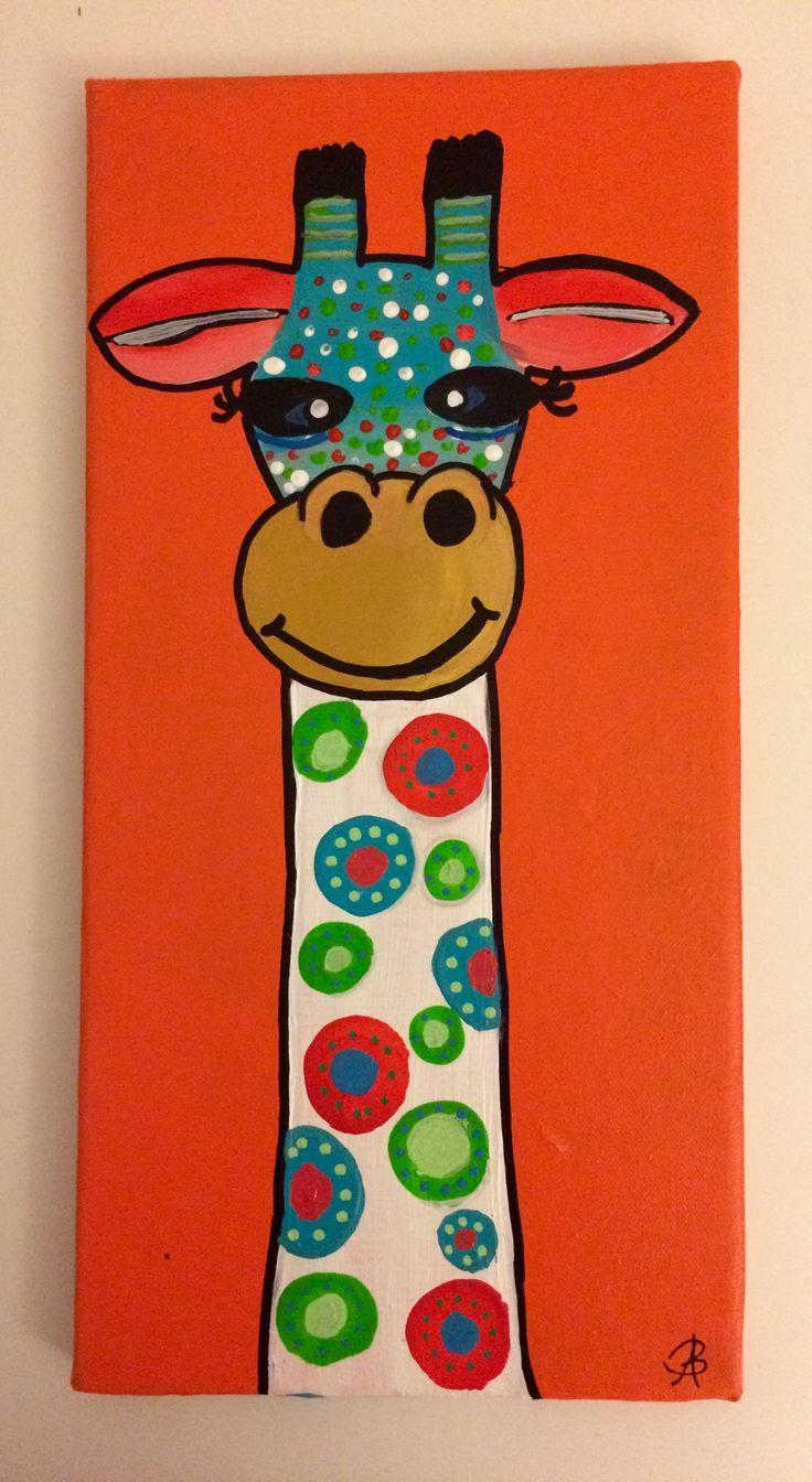Girafe1: Abstract acrylic painting by Bego Ayala