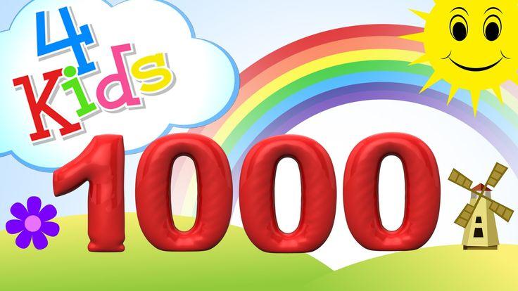 Zahlen lernen für Kinder - zählen von 100 bis 1000 in 100er Schritten (d...
