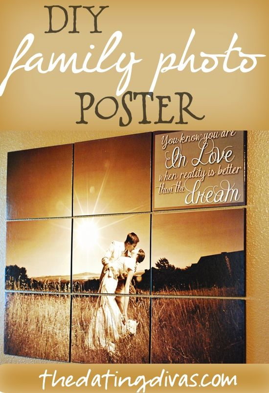 This idea is brilliant! Turn your family photo into a unique poster collage in just 10 easy steps!