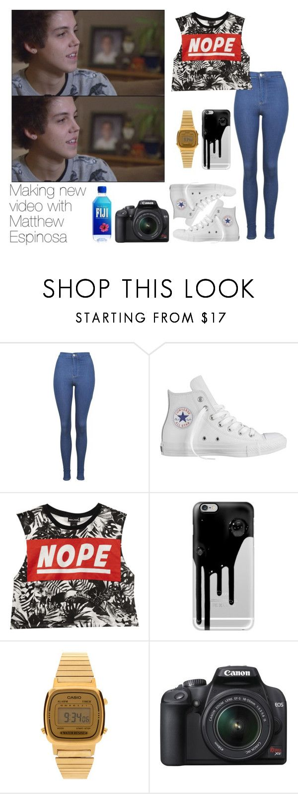 """""""Sin título #1346"""" by rosa-maria-romero ❤ liked on Polyvore featuring Topshop, Converse, Wet Seal, Casetify, Casio and Canon"""