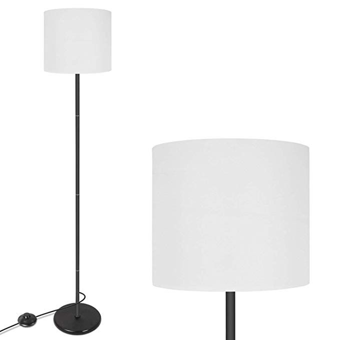 amazon: led floor lamp simple design, modern standing lamp with hanging lamp shade, bedroom