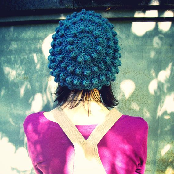slouchy bubble beret by 'softspoken' on etsy (I bought one & I looove it!) - handmade, hat, crochet