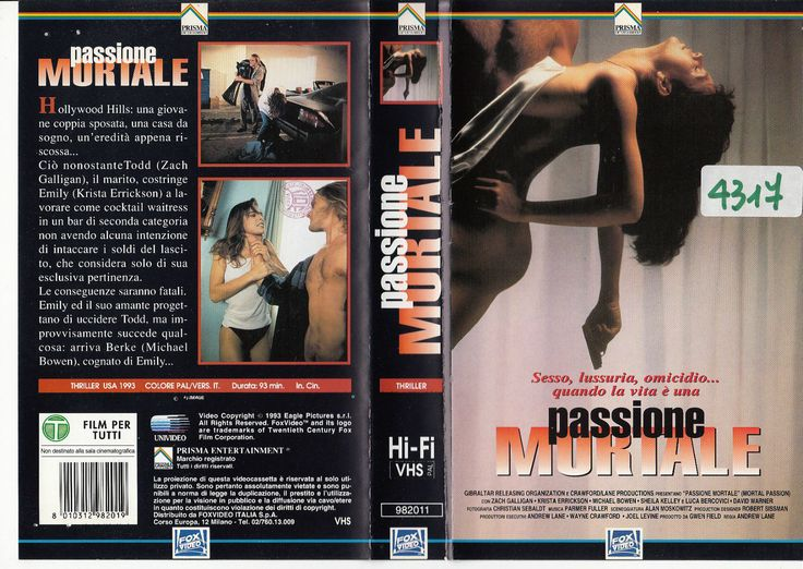 PASSIONE MORTALE (MORTAL PASSONS, US, 1989), PAL VHS, ITALY (EU), PRISMA/EAGLE PICTURES/FOX VIDEO #goth #EU27 #Erasmus #Brussels #Europa #Europeseunie #Brexit #nostalgie #Trump #Iovotono #Gibraltar #Deauville #France #Frankrijk #film #festival #Λισαβόνα #Πορτογαλία #arthouse #Indie #bohemian #Stam1na #erotiek #drama #elokuvat #hirviöt #alastomat #nue #nude #flops #Lumina #art #Jessicka #Addams #Sexit  #handball #hockey #IIHF #Eurobasket #Coraline #Charlotte #Gainsbourg #Christina #Ricci…