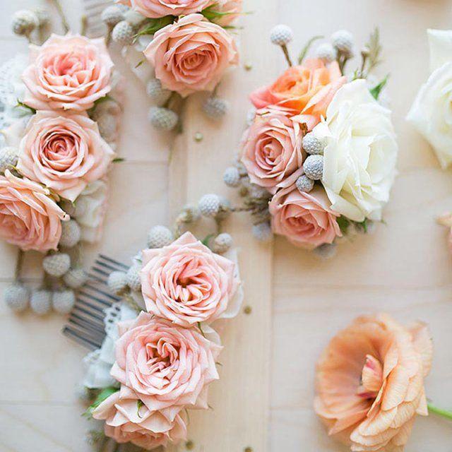 Peigne à cheveux flowers power / Flowered comb