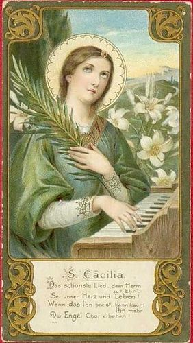 Cäcilia - Heiligenbild / Holy Card / Image pieuse | Flickr - Photo Sharing!