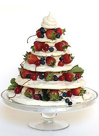 This Meringue Christmas Tree is easy if you prepare the meringues in advance.  Video instructions by Ina Paarman - great alternative for those Brits who dislike Christmas pud!