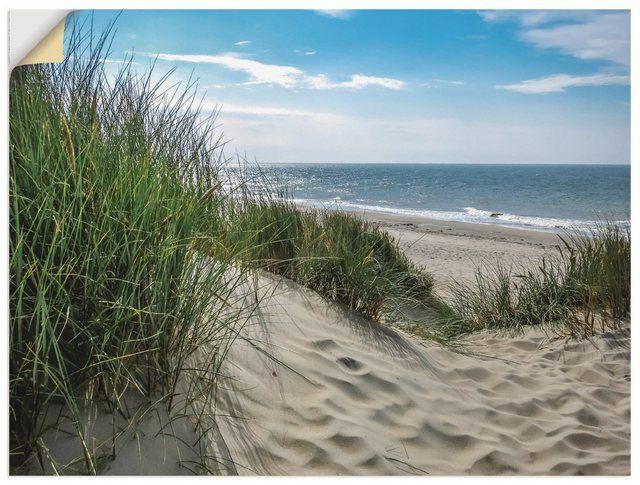 Premium Wandfolie »S. Herppich: Dünenlandschaft im Sommer Nordsee«