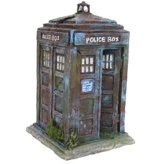 Police Box Fish Tank Ornament 17.5cm   Aquarium Ornament Police Box Small (Dr Who style) Lots of detail and plants.  Best Seller W