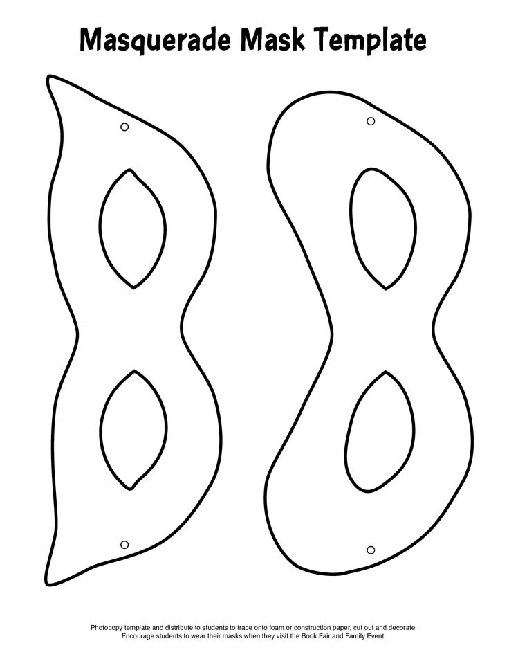 Printable Boy And Girl Black And White Mardi Gras Masks Templates Regard To Face Masks Templates