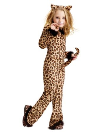 Pretty Leopard Child Costume   Wholesale Cat Costumes for Girls