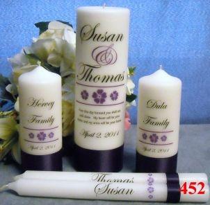 Wedding Unity Candle Complete Set