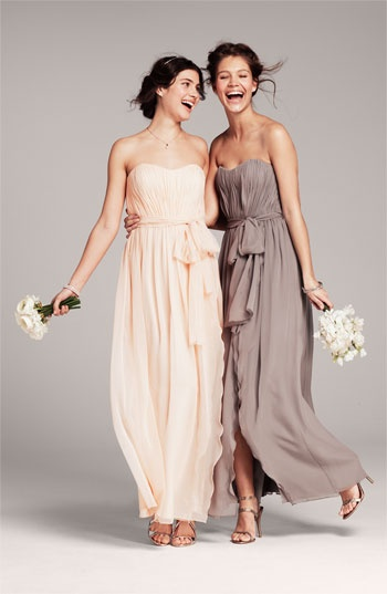 Donna Morgan Sweetheart Ruched Chiffon Gown #wedding