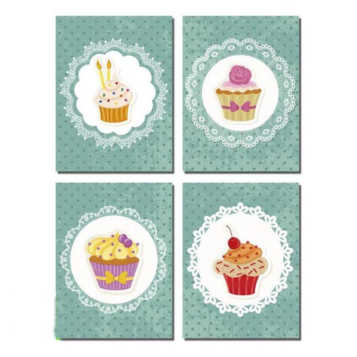 Cuadros de cocina cupcakes vintage decorar paredes - Cuadros cocina vintage ...