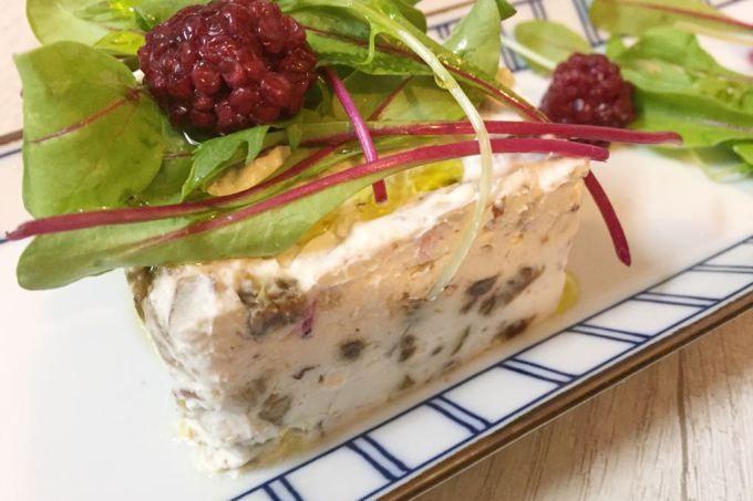 Terrine de queijo de cabra com figo e noz | MdeMulher
