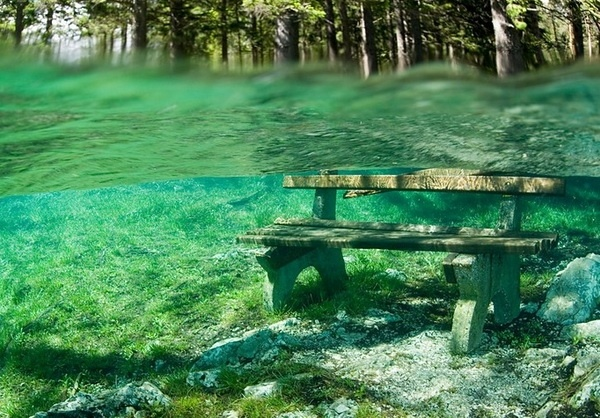 Underwater Park, Green Lake, Austria