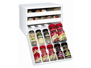 White Chef's Edition Spice Storage by Youcopia at Cooking.com # holiday cooking30 Bottle, Spices Organic, Chefs Editing, Youcopia Chefs, Spices Racks, Organizers, Spice Racks, Editing Spicestack, White Kitchens