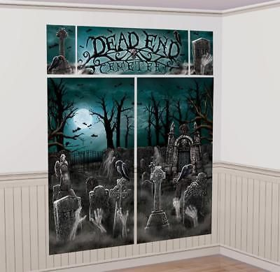 6ft Haunted Graveyard Halloween Scene Setter Banner Party Decoration Photo Prop