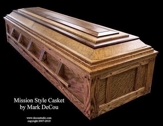 Coffin Earrings Wood Casket Halloween Brown