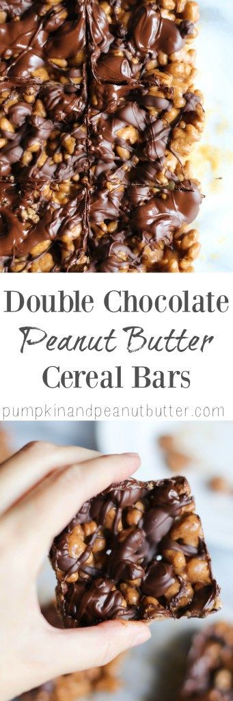 Double Chocolate Peanut Butter Cereal Bars {sponsored by Annie's Organic}…
