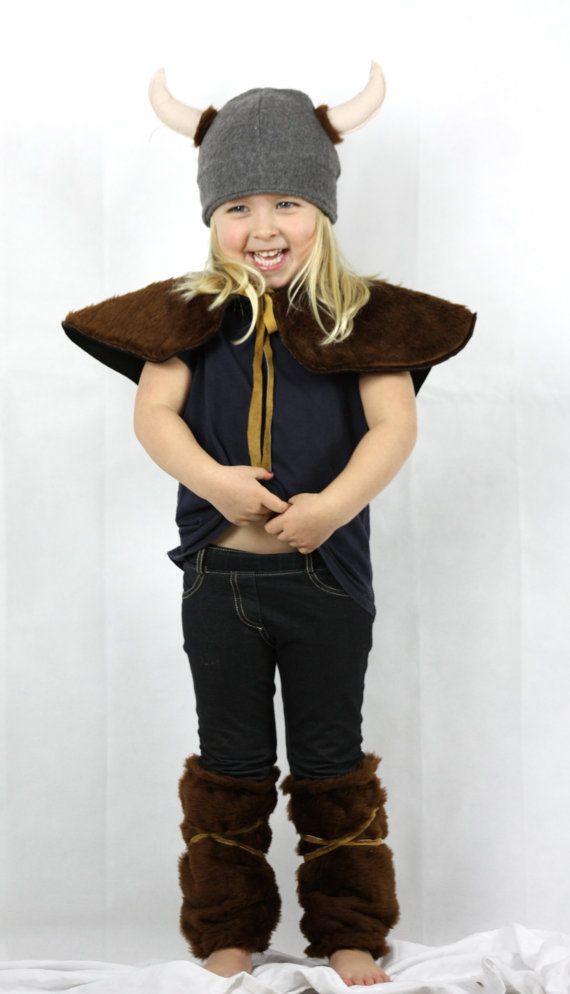 Il vichingo Costume fatto a mano bambini di sparrowandbcostumery