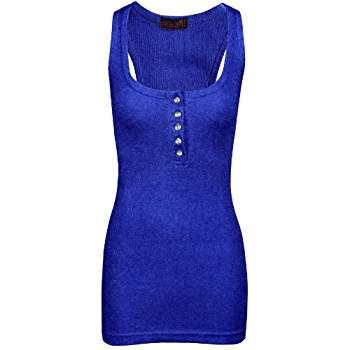 Miss 21 - Camiseta sin mangas - para mujer azul 36