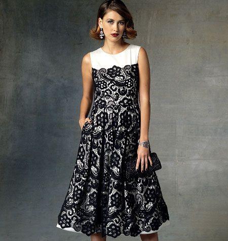 Pamella Roland Misses' Dress, V1425 http://voguepatterns.mccall.com/v1425-products-48998.php?page_id=174 #voguepatterns
