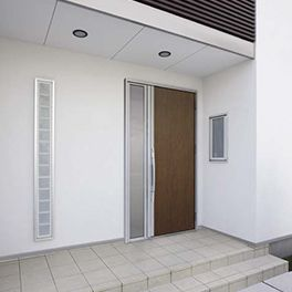 LIXIL | 玄関まわり | アヴァントスIS | 施工イメージ 10型 グレイスマホガニー