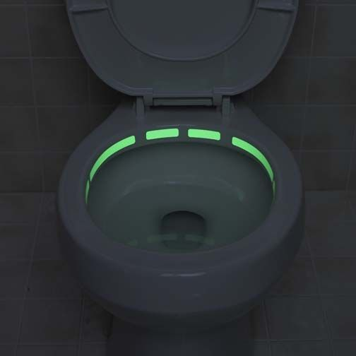 glow-in-the-dark toilet locater strip;